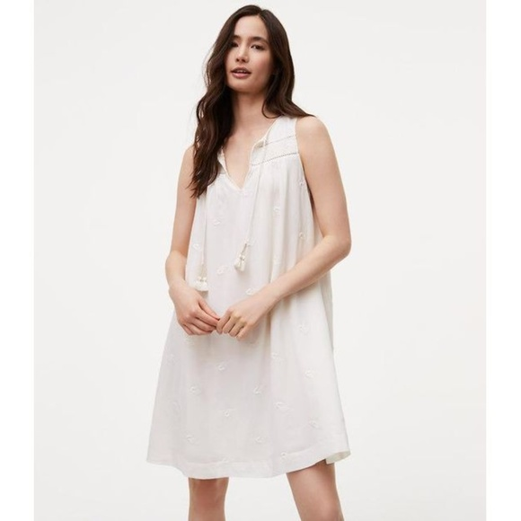 LOFT Dresses & Skirts - NWT LOFT sleeveless white tassel dress